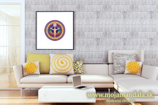 mandala rovnováhy v obývačke