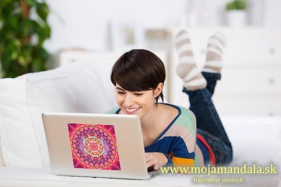 mandala ženská krása na notebook
