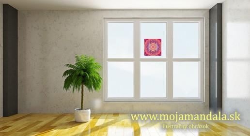 mandala ženská krása na okno