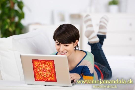 mandala šťastia na notebook
