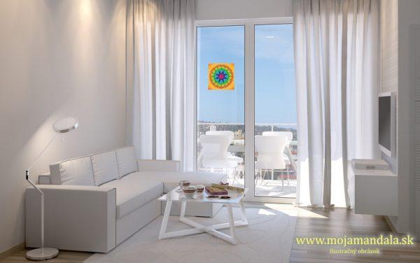 mandala radosti na okno